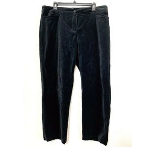 Eileen Fisher Velvet Straight Jeans Black